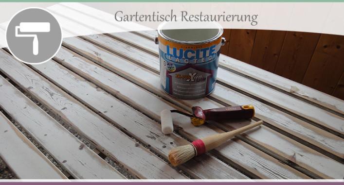Gartentisch Restaurierung