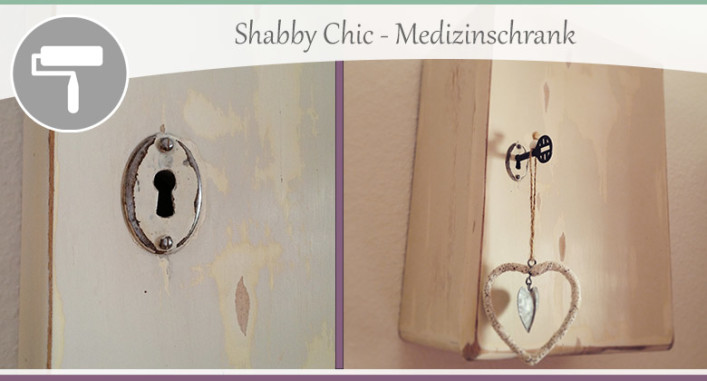 shabby chic medizinschrank aufbereitet wohncore. Black Bedroom Furniture Sets. Home Design Ideas