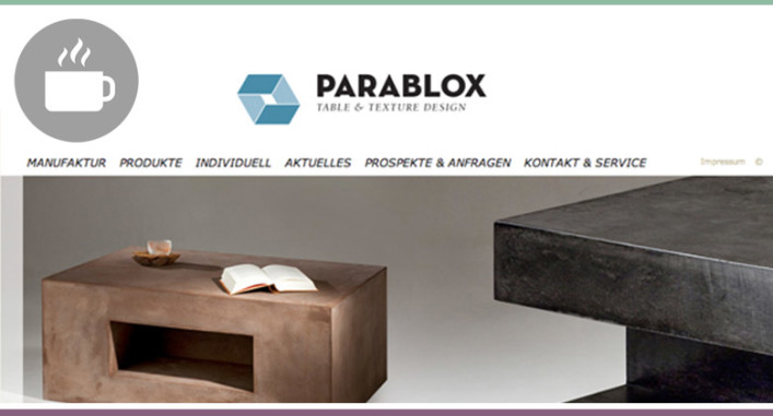 parablox m bel mit betonoptik wohncore. Black Bedroom Furniture Sets. Home Design Ideas