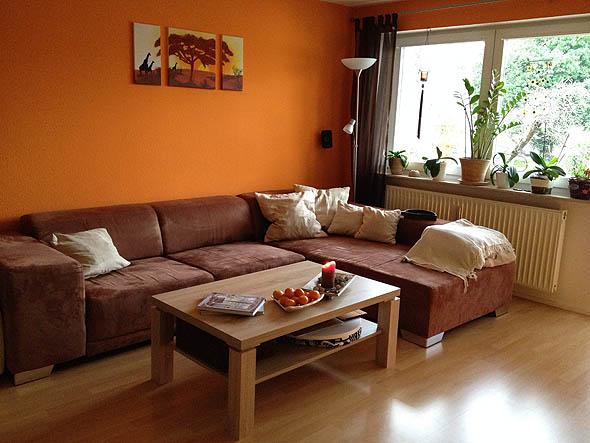 Braun Orange Wohnzimmer Modell - Wohndesign -