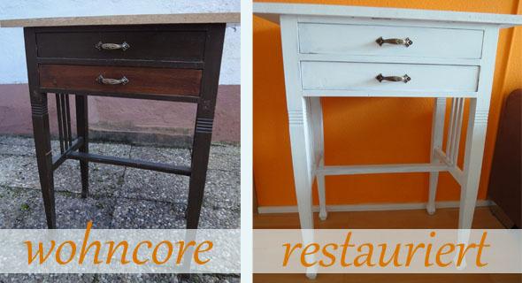 Möbel Weiß Streichen Vorher Nachher: Alte eiche kuchenschranke ...