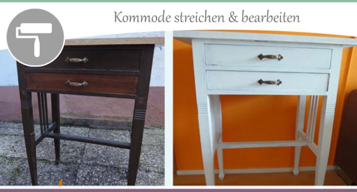 kommode umgestalten teil 2 streichen und bearbeiten wohncore. Black Bedroom Furniture Sets. Home Design Ideas