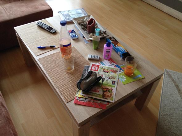 Tisch unordentlich