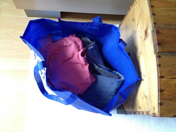 Wäschesack bald voll