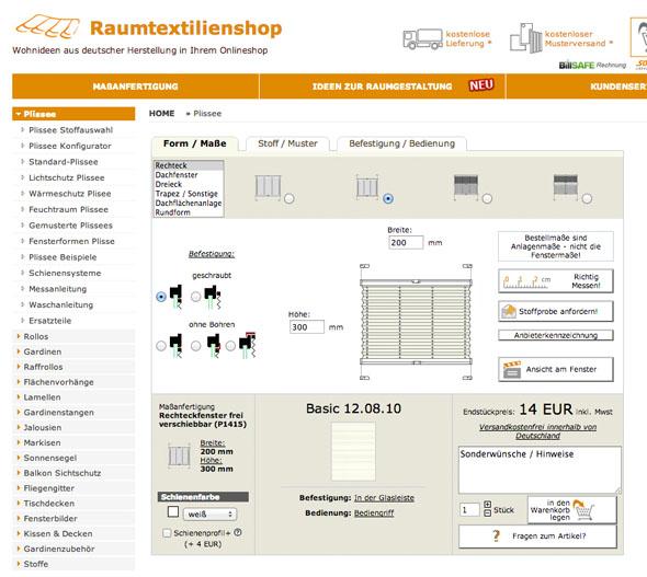 Screenshot-Raumtextilienshop