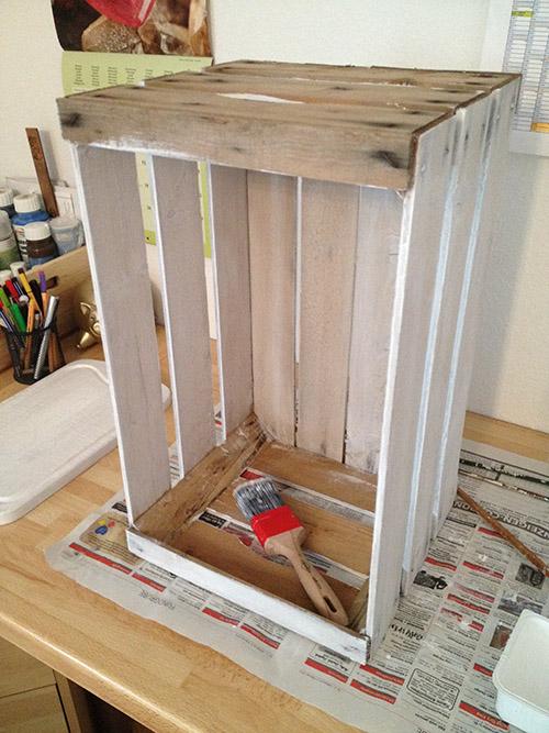 kistenregal selber bauen teil 2 kisten streichen wohncore. Black Bedroom Furniture Sets. Home Design Ideas