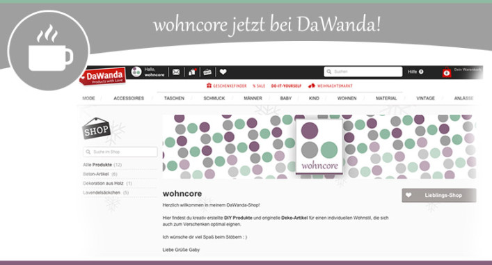 DaWanda-Shoperöffnung