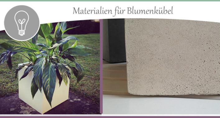 Materialien für Pflanzkübel und Blumentöpfe › wohncore