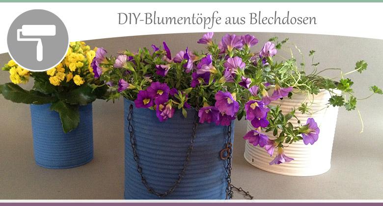 Blechdosen-Blumentoepfe